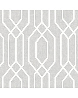 Arthouse NY Geo Grey Wallpaper