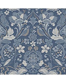 Arthouse Folk Floral Denim Blue