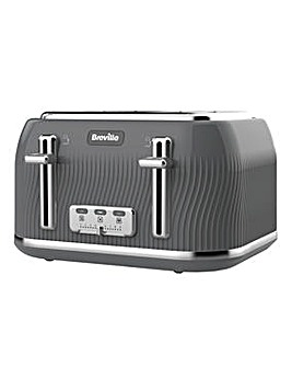 Breville VTT892 Flow 4 Slice Grey Toaster
