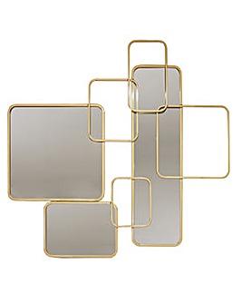 Arthouse Interlocking Gold Mirror