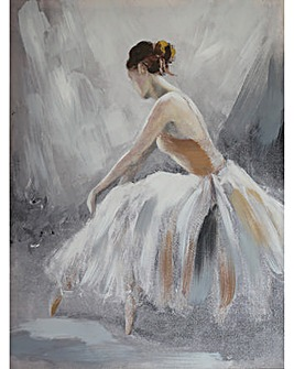 Arthouse Ballerina Neutral Canvas