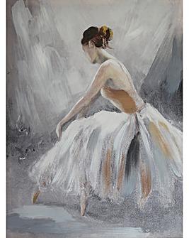 Arthouse Ballerina Neutral Canvas