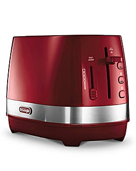 DeLonghi Active 2 Slice Red Toaster