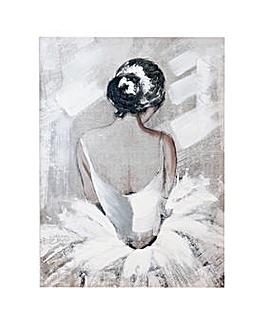 Arthouse Ballerina Portait Canvas with hand paint
