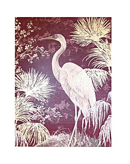 Arthouse Oriental Heron Canvas with Foil Accents