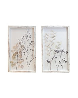 Arthouse Set of 2 Floral Print on Perspex