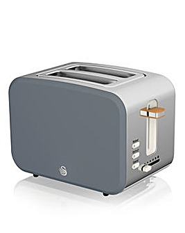 Swan ST14610GRYN Nordic Style 2 Slice Grey Toaster