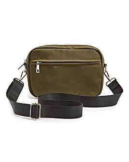 Nylon Khaki Crossbody Bag