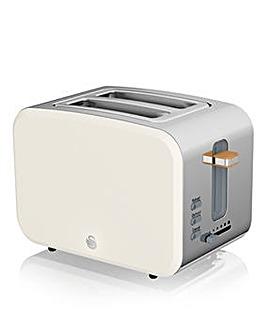 Swan Nordic 2 Slice White Toaster