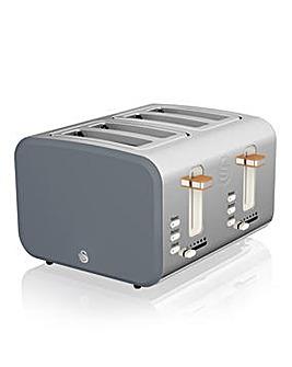 Swan Nordic 4 Slice Grey Toaster