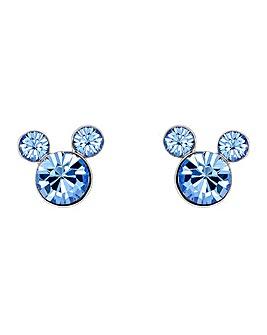 Disney Mickey Mouse Blue Stone Earrings