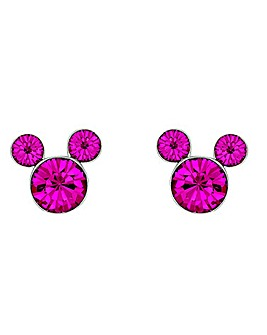 Disney Mickey Mouse Pink Stone Earrings