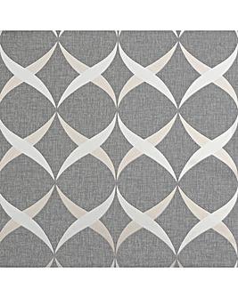 Arthouse Metallic Ogee Wallpaper