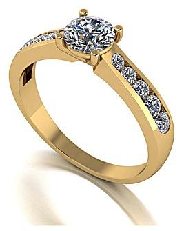 Moissanite 9CT Gold Solitare Ring