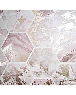 Arthouse Marbled Hex Wallpaper