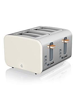 Swan Nordic 4 Slice White Toaster
