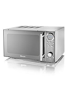 Swan SM3080N 20Litre Digital Microwave - Stainless Steel