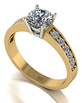 Lady Lynsey Moissanite 9CT Gold Ring