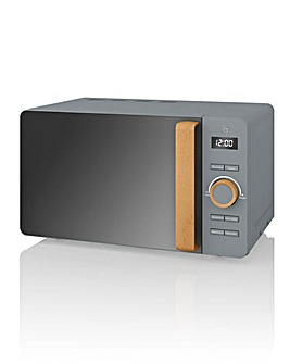 Swan 20 Litre 800W Nordic Grey Microwave