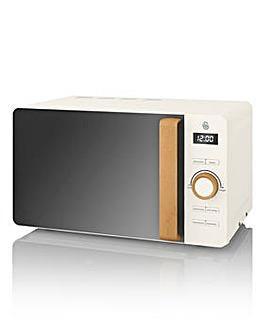 Swan 20Litre 800W Nordic White Microwave