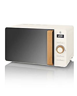 Swan SM22036WHTN 20L Digital Nordic Style Microwave - White