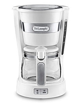 DeLonghi White Filter Coffee Machine