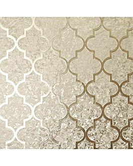 Arthouse Velvet Trellis Wallpaper