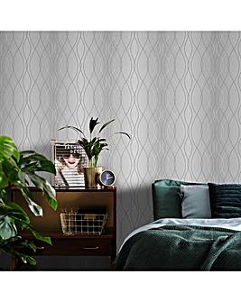 Grey/White Manhattan Ogee W/Paper