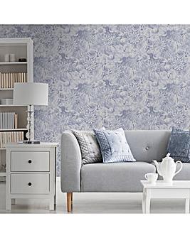 Blue Evie Cool Floral W/Paper