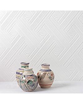 Superfresco White Paintable Geometric