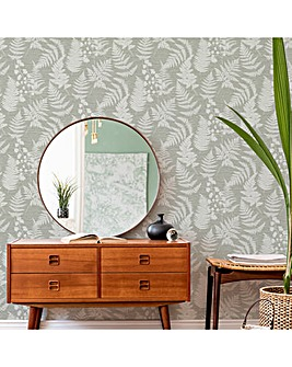 Taupe Witton Silhouette Leaf W/Paper