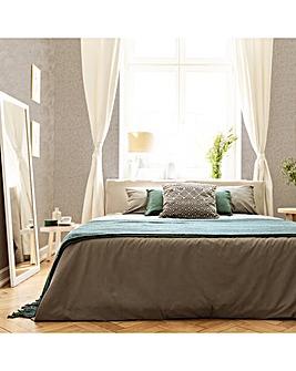 Sublime Beige Fairy Lace Linen Textured Plain Wallpaper