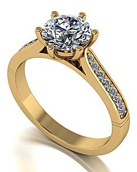 9ct Gold Moissanite Ring