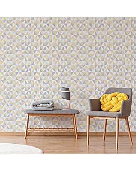 Erika Yellow/Grey Geometric W/Paper