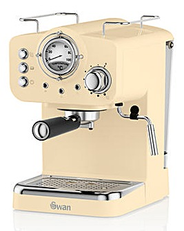 Swan Retro Cream Pump Espresso Coffee Machine