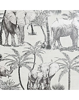 Artistick Elephant Grove Grey Wallpaper