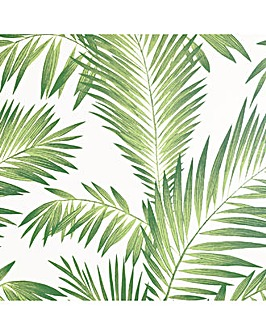 Artistick Tropical Palm Green Wallpaper