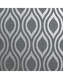 Arthouse Artistick Peel and Stick Luxe Ogee Gunmetal Wallpaper