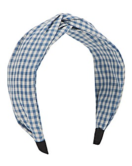 Gingham Twist Headband