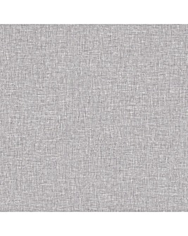 Artistick Linen Texture Grey Wallpaper