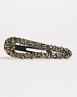 Grey Stone cluster hair clip