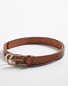 Weave Effect Tan Belt
