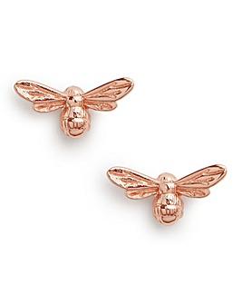 Olivia Burton Lucky Bee Rose Gold Stud Earrings