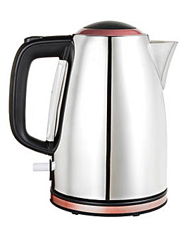 Rose Gold and Steel Accent Jug Kettle
