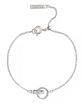 Olivia Burton Silver The Classics Interlink Bracelet