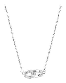 Olivia Burton Interlink Chain Silver Necklace