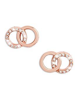 Olivia Burton Rose Gold Bejewelled Stud Earrings