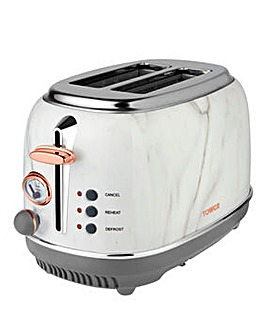 Tower T20016WMRG 2 Slice Stainless Steel Marble Toaster