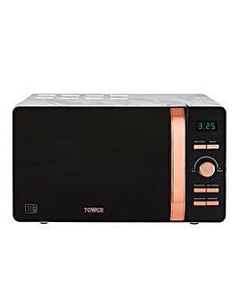 Tower T24021WMRG 20 Litre Marble Microwave - Black/Rose Gold
