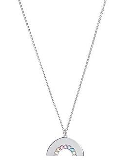 Olivia Burton Silver Rainbow Necklace